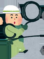 安全靴を履いて工事をしている男性のイラスト
