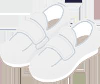 柔らかい素材の靴