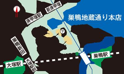 異邦人 巣鴨地蔵通り本店の地図