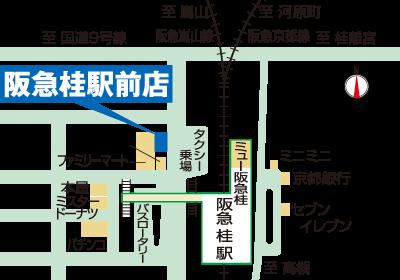 異邦人 阪急桂駅前店の地図
