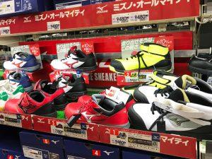 安全靴の売り場の写真