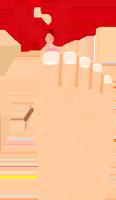 安全靴で足の親指が痛いイラスト