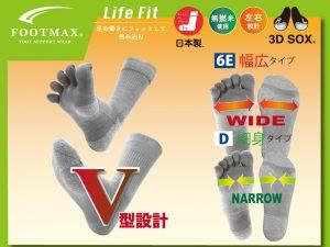異邦人の全店舗で足にピッタリと合う靴下の販売を開始しました!