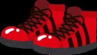 派手はデザインの靴のイラスト
