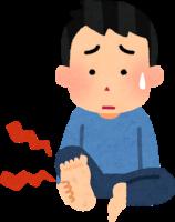 足の裏が痛い男性のイラスト