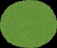 小さめの丸いカーペットのイラスト