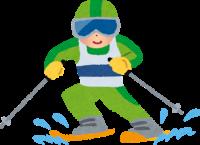 スキーヤーのイラスト