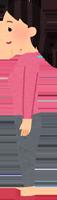 開張足のセルフチェックをしている女性のイラスト