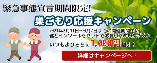 WEB限定!巣ごもり応援キャンペーン!(2/11~3/7)