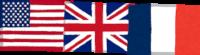 アメリカ・イギリス・フランスの国旗のイラスト