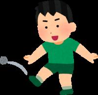 利き足が右足の子供のイラスト