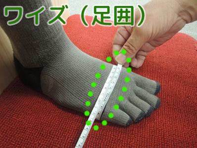 足のワイズ(足囲)の測り方