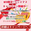 WEB限定!クリスマスキャンペーン!(12/5~27)