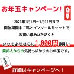 WEB限定!お年玉キャンペーン!(1/4~1/11)