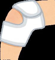 膝を怪我したイラスト