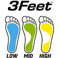 3フィートインソールのロゴ
